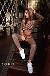 Женский спортивный костюм из люрекса хамелеон с укороченным худи vN3578, фото 5