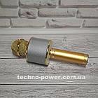 Караоке-микрофон bluetooth WS858 Золото. Портативный блютуз караоке микрофон, фото 9