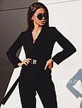 Женский брючный костюм с удлиненным пиджаком и зауженными к низу штанами vN3587, фото 5