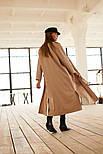 Женский длинный тренч под пояс из коттона vN3624, фото 4