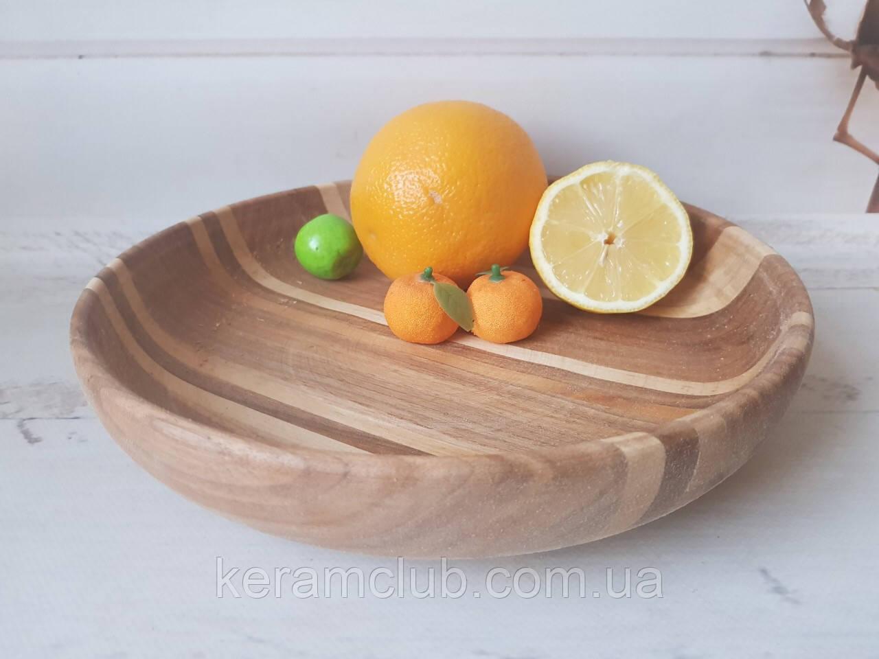 Деревянная тарелка d 30 см h 5 см