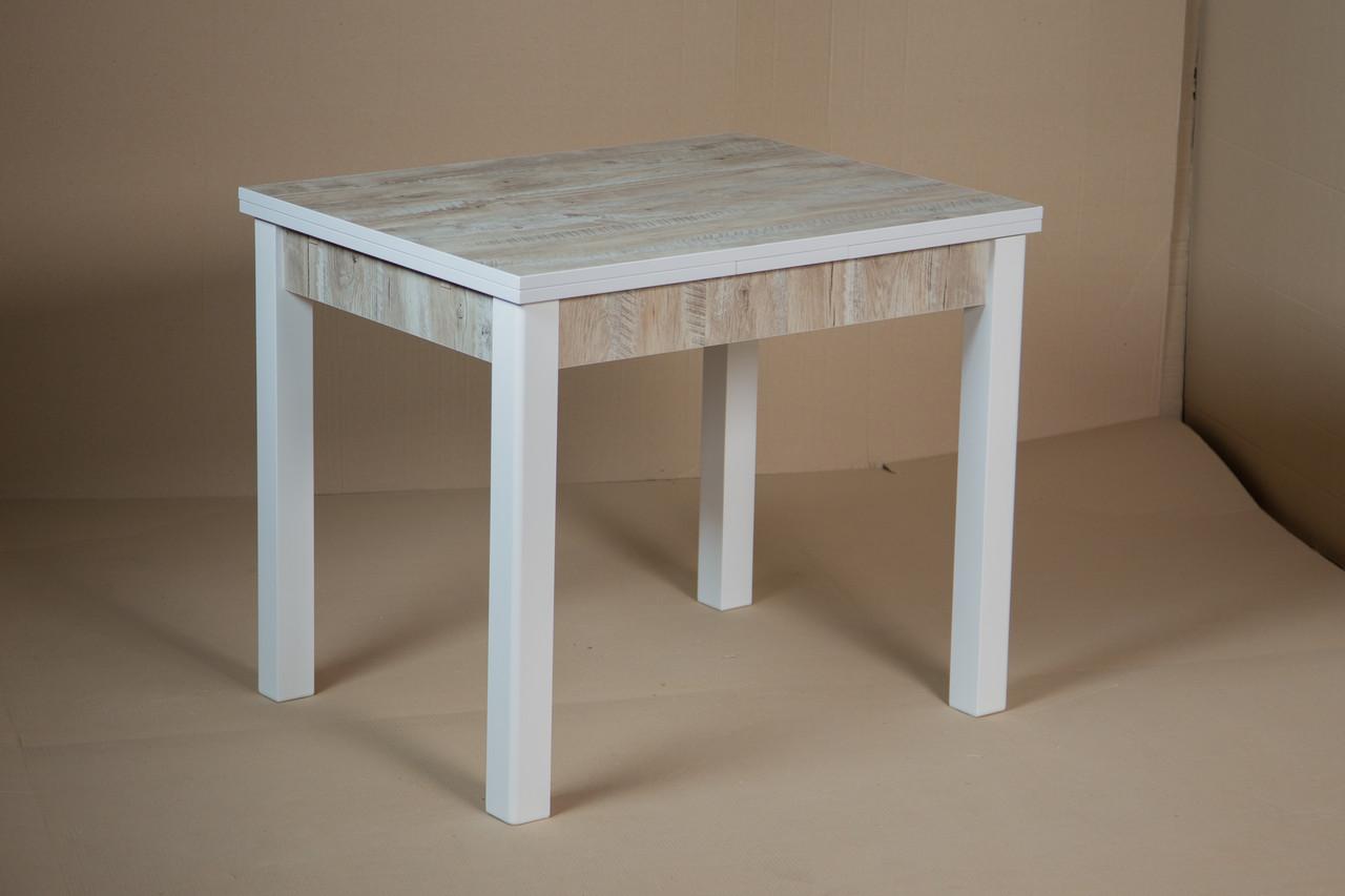 Стол Марсель 90 белый/Клондайк 90(+35+35)х70