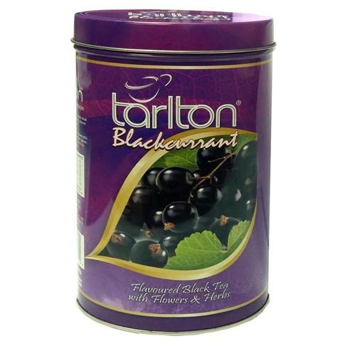 Чай черный листовой Тарлтон Черная смородина с лепестками роз, шафраном, розмарином, цветами мальвы 100 г ж/б