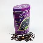 Чай черный листовой Тарлтон Черная смородина с лепестками роз, шафраном, розмарином, цветами мальвы 100 г ж/б, фото 2