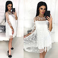 Женское нарядное платье с сеткой с 42 по 46 рр