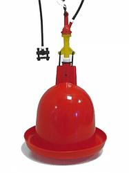 Автопоилка колокол для домашней птици под трубопровод с низким давлением воды, Impex Нидерланды