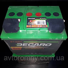 Аккумулятор 60Ah 12v DECARO START (242x175x175) EN480 DECARO