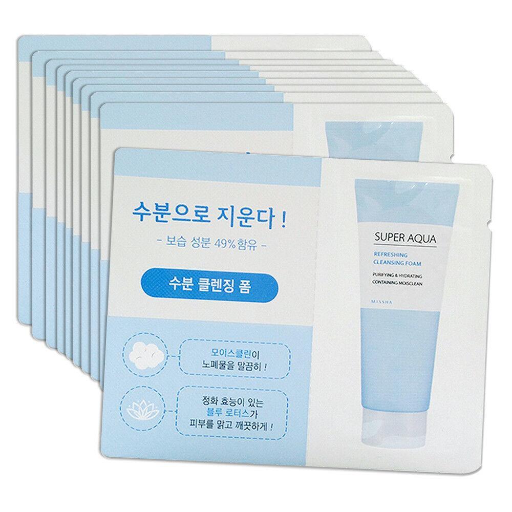 Очищающая пенка для умывания Missha Super Aqua Refreshing Cleansing Foam Пробник 2 мл