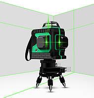 Лазерный уровень 3D MAOVON Зеленый 12 линий на 360 градусов  самовыравнивающийся нивелир
