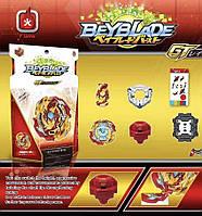 Бейблейд Лорд Спрайзен С6 Beyblade (Lord Spriggan), Бахамут, Драгон B-149 с карабином золотой с красным