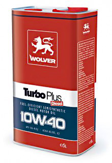 Масло моторное Wolver Turbo Plus SAE 10W-40 API CG-4/SJ (Канистра 5л)