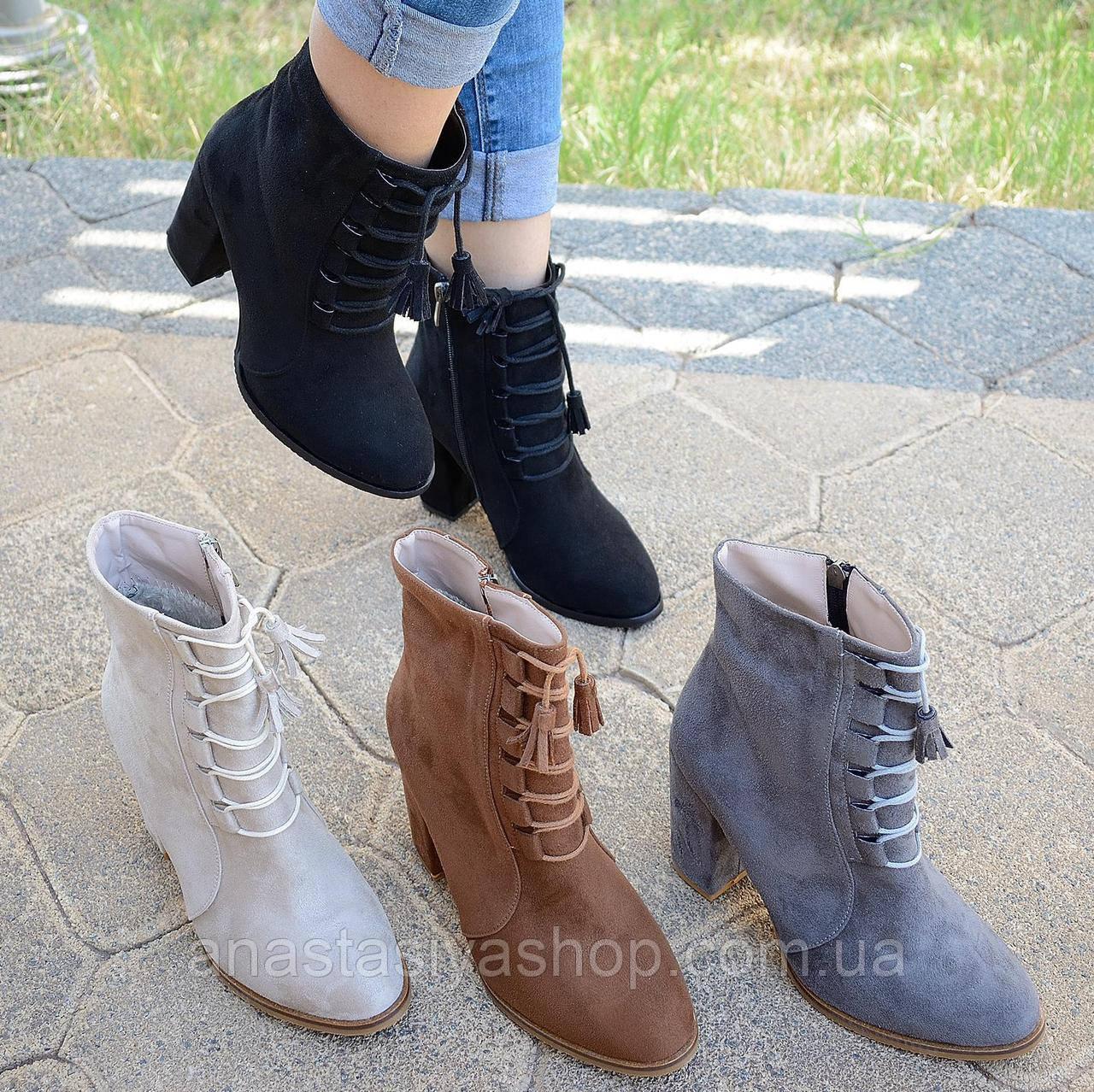Новинка!! Женские ботинки на каблуке