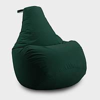Кресло мешок груша Beans Bag Оксфорд 65*85 см, Цвет Темно Зеленый