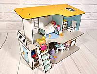 Домик для кукол LOL 2402 Пляжный двухэтажный домик с мебелью и текстилем