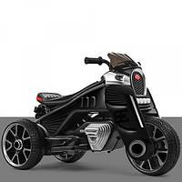 Детский трехколесный электро-мотоцикл на мягких колесах для детей от 3 до 6 лет  M 4113EL-2 черный