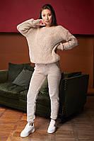 Женский вязанный костюм брючный, джемпер свободный с брюками, over size 44-48, цвета в ассортименте код 4079К