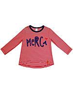 Футболка с длинным рукавом для девочки SMIL красно-белая полоска 114504