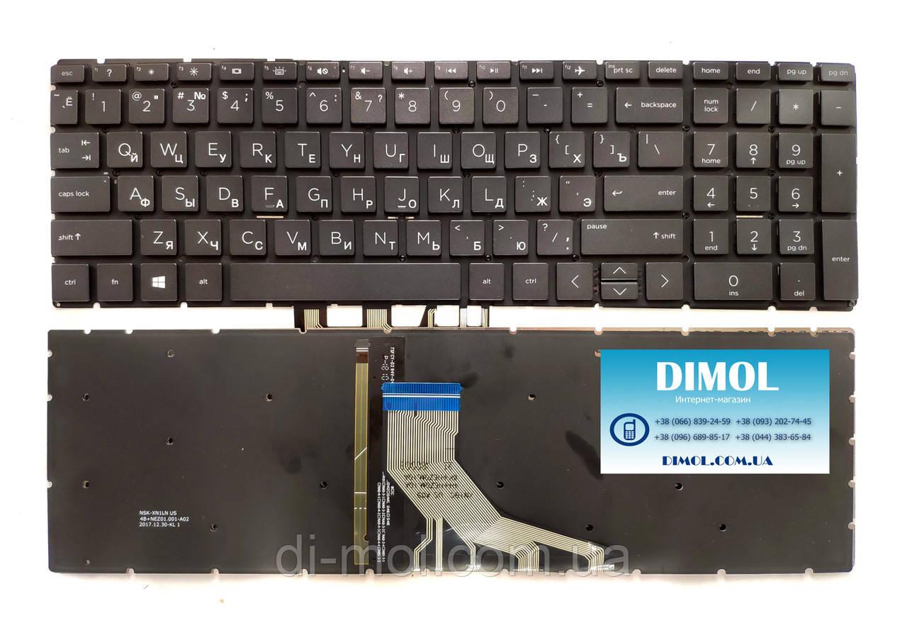 Оригинальная клавиатура для ноутбука HP Pavilion Gaming 15-CX series, rus, black, подсветка