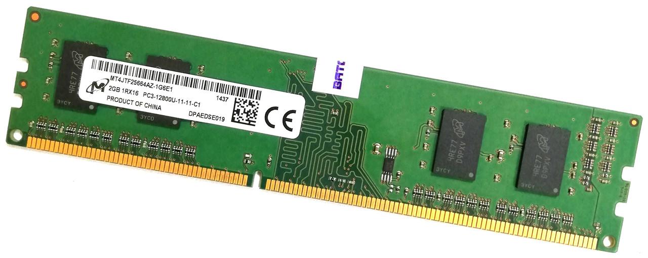 Оперативная память Micron DDR3 2Gb 1600MHz PC3 1Rx16 12800U CL11 (MT4JTF25664AZ-1G6E1) Б/У