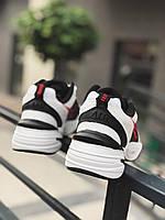 Кроссовки женские бело-черные на осень Найк Nike Air Monarch white / black