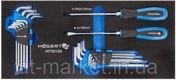 Набор отверток, ключи HEX и TORX 20 шт., ложемент EVA HOEGERT HT7G134