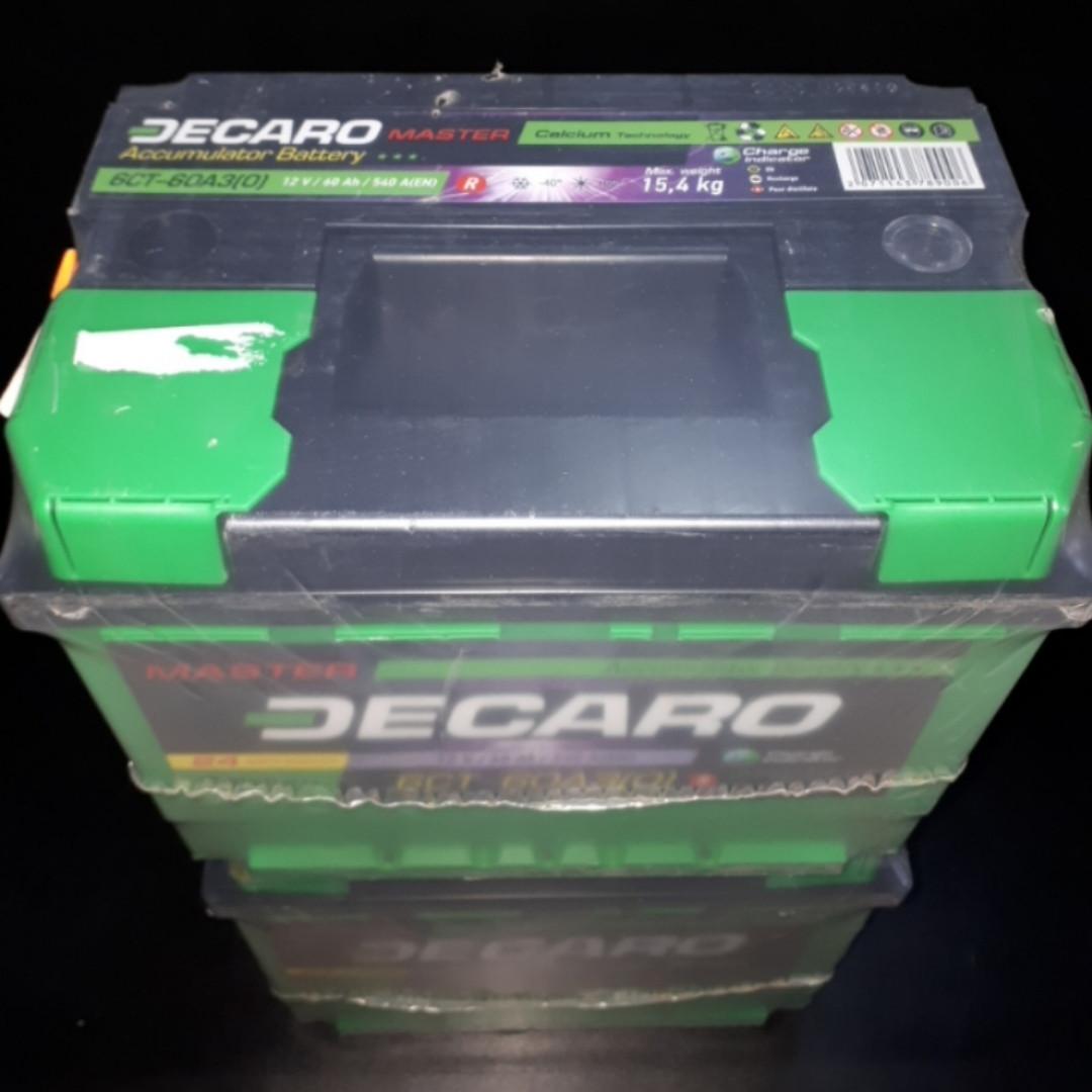Аккумулятор 60Ah 12v DECARO MASTER (242x175x175) EN540 DECARO