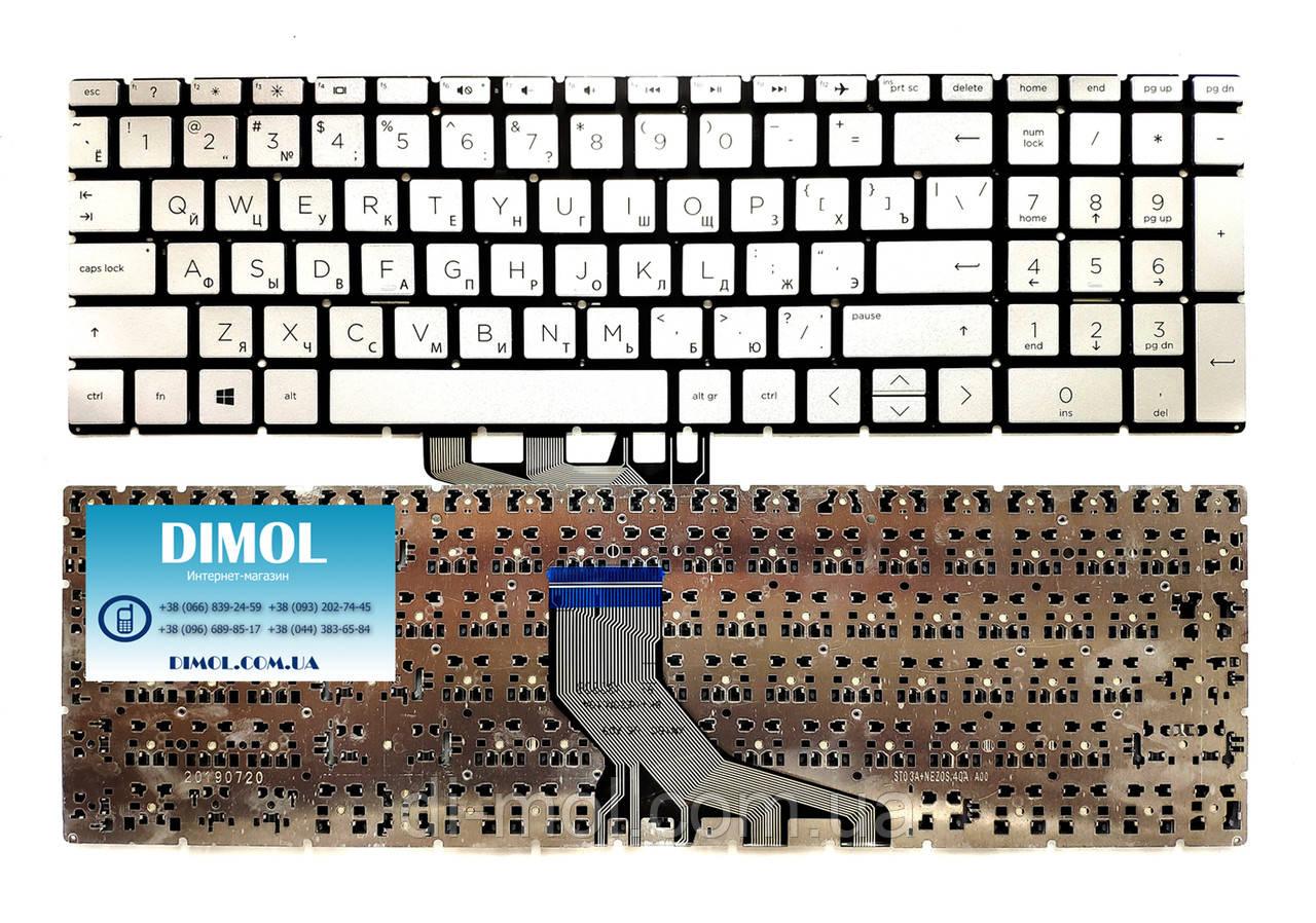 Оригинальная клавиатура для ноутбука HP Pavilion Gaming 15-CX series, rus, silver