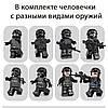 Детский конструктор Полицейский спецназ 695 деталей 8в1. Лего (Lego) игрушка для детей, подарок ребёнку SWAT, фото 5