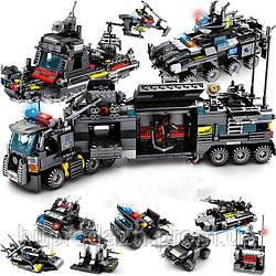 Детский конструктор Полицейский спецназ 695 деталей 8в1. Лего (Lego) игрушка для детей, подарок ребёнку SWAT