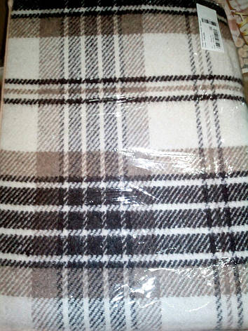 Плед Vladi Метро 140х200 бел-беж-кор, фото 2