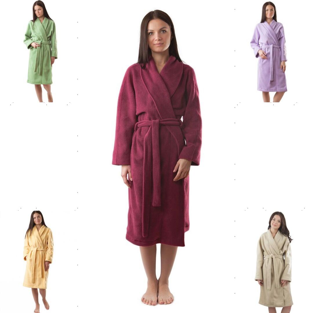 Теплий і практичний флісовий халат. Різні забарвлення