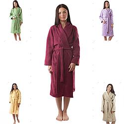Теплый и практичный флисовый халат. Разные расцветки