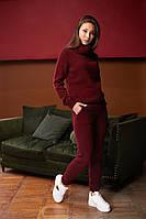 Женский вязанный костюм двойка, брючный, джемпер с брюками, over size 44-48, цвета в ассортименте код 4090К, фото 1