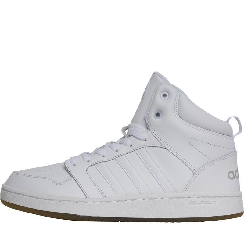 Мужские кожаные кроссовки Adidas Cloudfoam Super Hoops (CG5719) белые оригинал