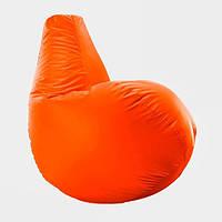 Кресло мешок груша Beans Bag Оксфорд Стандарт 65*85 см Цвет Оранжевый