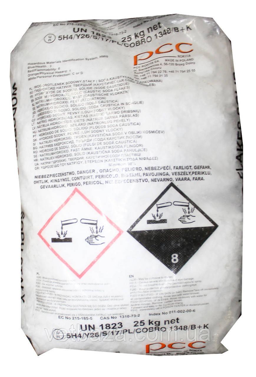 Сода каустичная 25кг чешуя (натрий гидрооксид) Китай