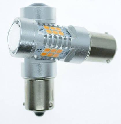 Светодиодная лампа LED STELLAR 4G-21 BA15S-PY21W Amber(желтый), фото 2