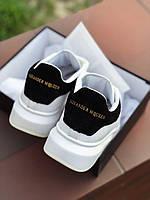 Женские осенние кроссовки черно-белого цвета A. McQueen white / black