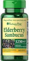 Поддержка иммунитета Puritan's Pride - Elderberry Sambucus 1250 мг (60 капсул)