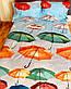 """Двуспальный комплект постельного белья """"Красочные зонтики"""" из полисатина, фото 5"""