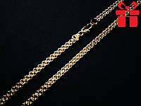 """🔥✅Цепочка """"Бисмарк якорный"""" толстая 55 см *  5 мм. Позолота 18К Xuping, медицинское золото"""