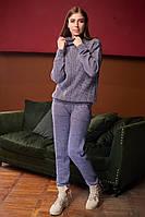 Костюм вязаный женский, джемпер под горлышко с брюками, over size 44-48, цвета в ассортименте код 4061К