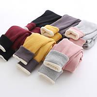Теплі легінси для дівчаток / Леггинсы для девочек зимние утепленные детские штаны, Теплый Бархатный флис