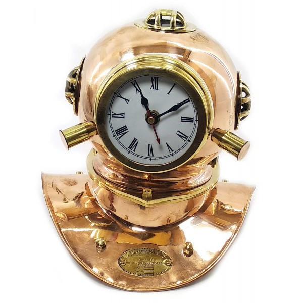Часы бронзовые Водолазный шлем