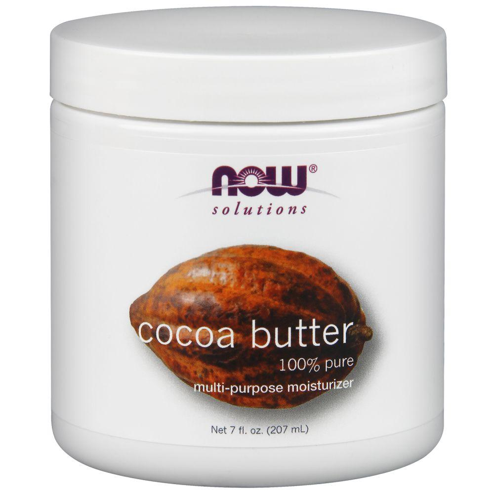 NOW Foods Масло Какао, Cocoa butter 100% pure, 207 ml