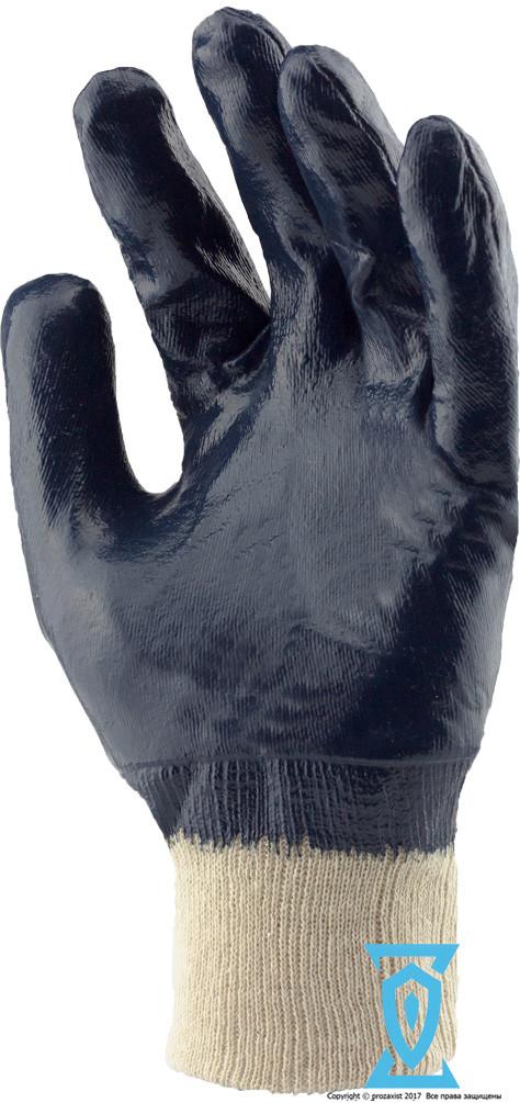 Перчатки рабочие КЩС синяя вязанный манжет 10.5 (Польша)