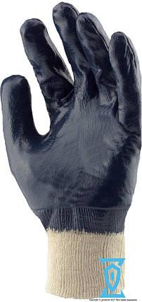 Перчатки рабочие КЩС синяя вязанный манжет 10.5 (Польша), фото 2