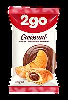 """Круассан """"2GO"""" с шоколадной начинкой 60г"""