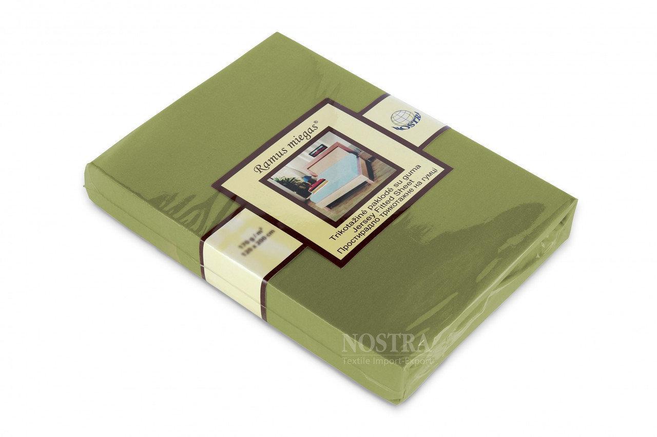 Простынь на резинке трикотажная Nostra 200х200 зеленая