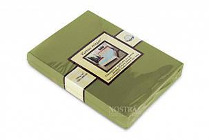 Простынь на резинке трикотажная Nostra 200х200 зеленая, фото 2